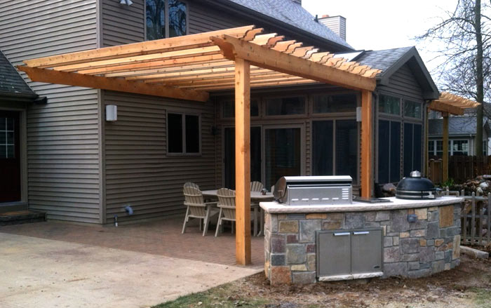 Appleton Patio, Arbor And Built In Grill Island