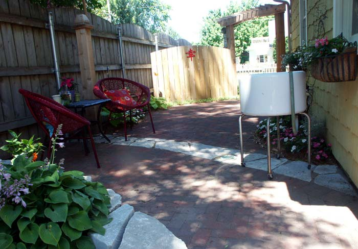 Hardscapes complimented by outdoor furniture