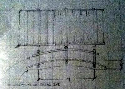 wooden bridge in appleton - design