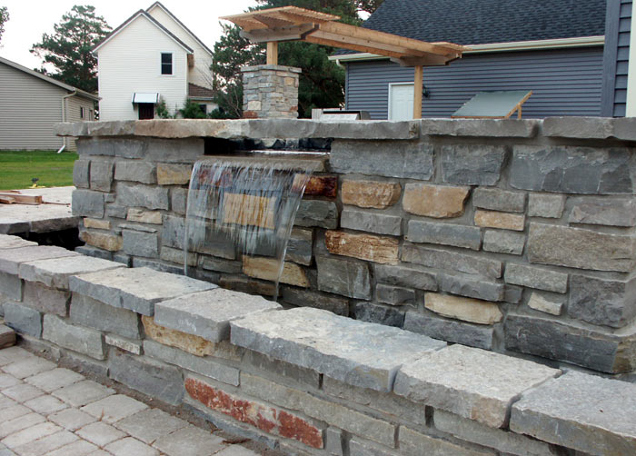 masonry water feature