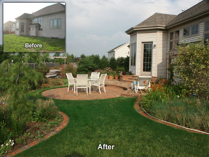 neenah landscape before and after
