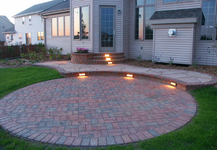 paver patio low voltage lights