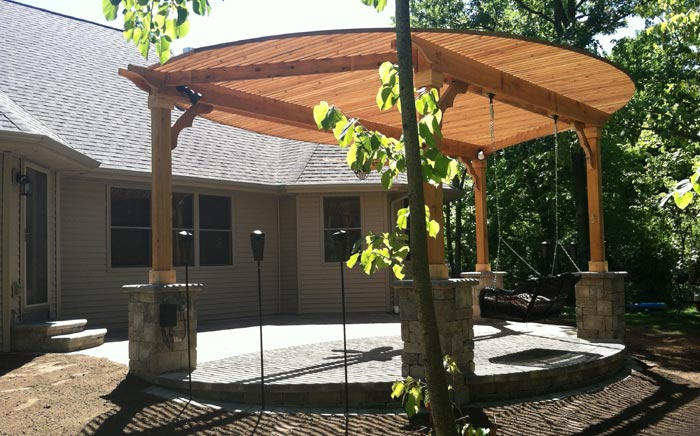... Garden Design With Neenah: Patio Shade With Backyard Lighting Ideas  From Stonehengebpl.com