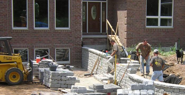 Construction of retaining walls