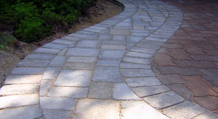 close-up paver detail