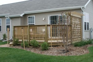 Wooden deck in appleton