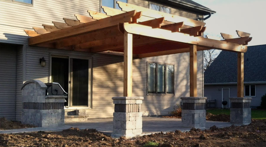 Attached Cedar Pergola