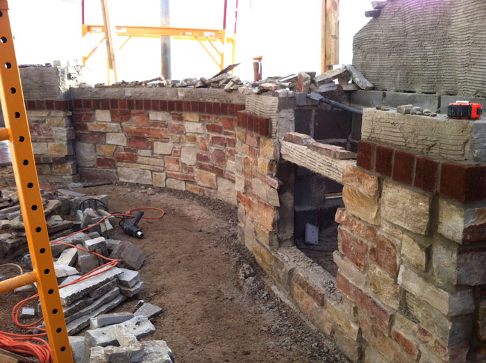 masonry built in grill island